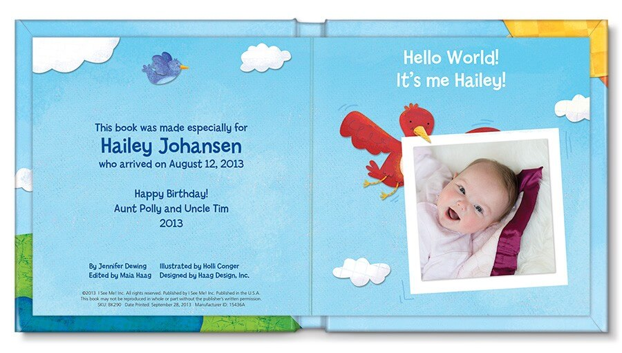 10 Best Gifts for New Baby - i See Me Personalized Book