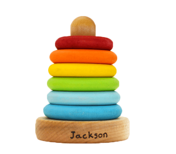 10 Best Gifts for New Baby - personalized wooden stacker toy