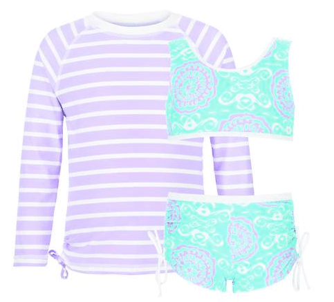 Snapper Rock Girls' Surf Medallion Sports Set