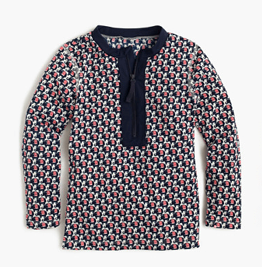 J.Crew girls' rash guard in elephant safari