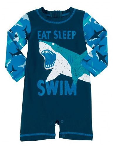 Hatley Baby Boys' Great White Sharks Rash Guard