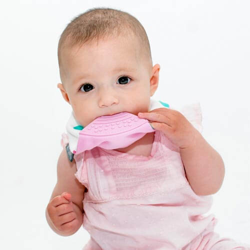 Neckerchew teething bib by Cheeky Chompers