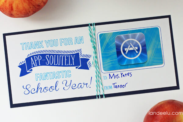 Teacher Gift Card Printables - itunes