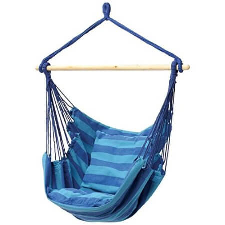 Cool Outdoor Swings for Kids - Club Fun Hanging Rope Hammock Chair | summer activities and boredom busters