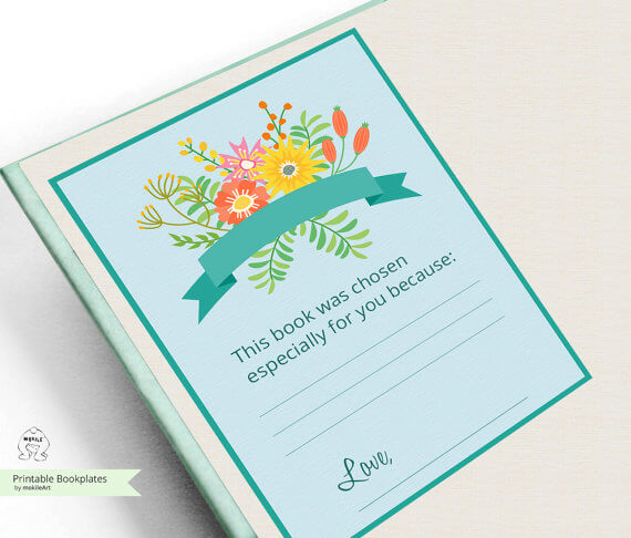 Teacher Gift - Printable Bookplate