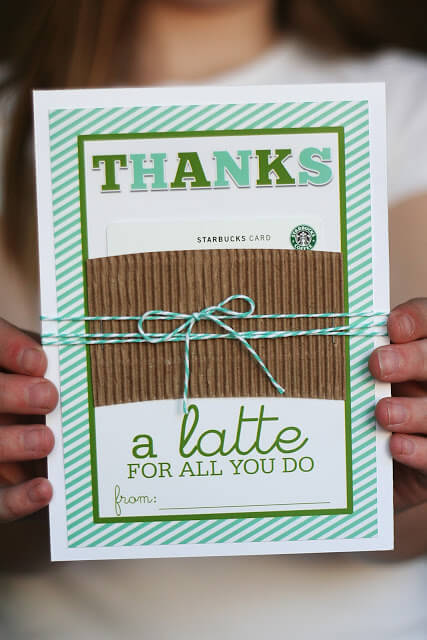 Teacher Gift Card Printables - Starbucks