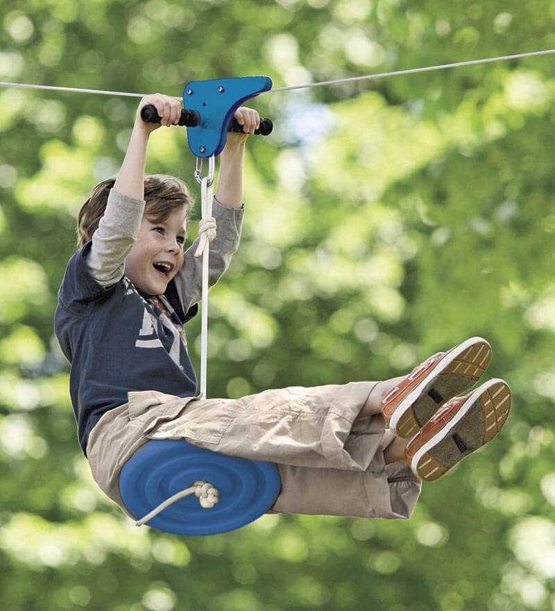 Cool outdoor swings for kids - Slackers Zipline | Summer activities and boredom busters