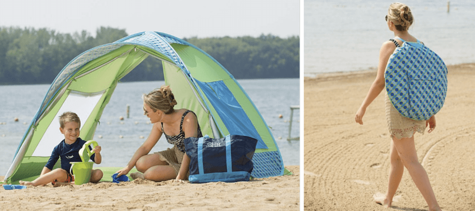 Beach Guide with Kids. Tips and Tricks. One Step Ahead Beach Tent Family Cabana