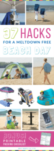 Beach Hacks, Tips and Tricks | The best clever ideas to keep kids happy at the beach this summer. Good tips for families with babies, toddlers and teens.