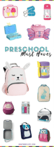 Back to School - Preschool Toddler Essentials and Supplies - Small backpacks, lunch bags, gear