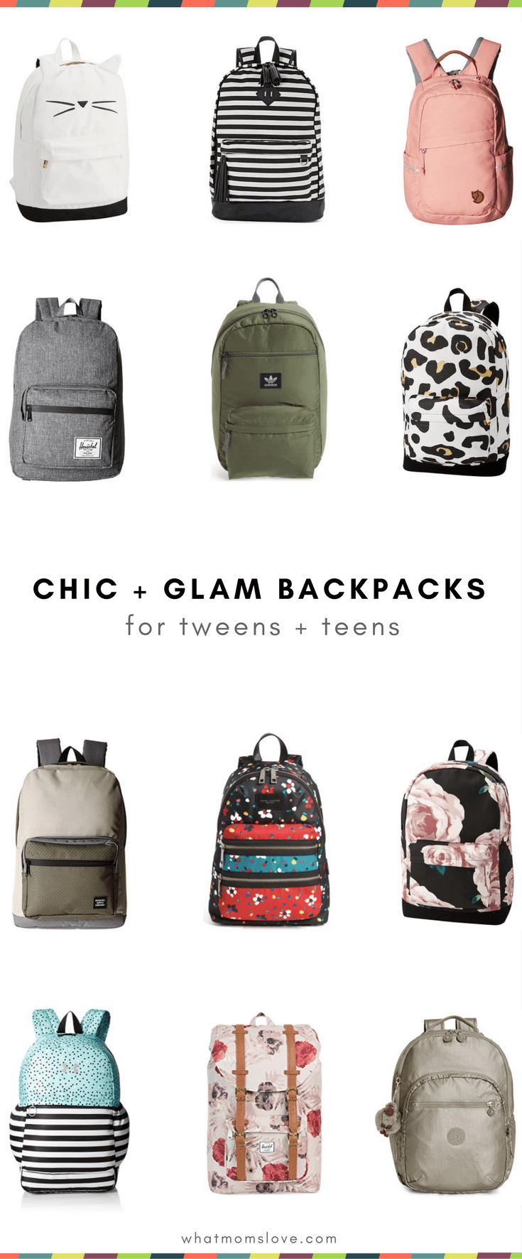 Best Backpacks for Tweens and Teens for Back to School - Chic Glamorous Minimalist