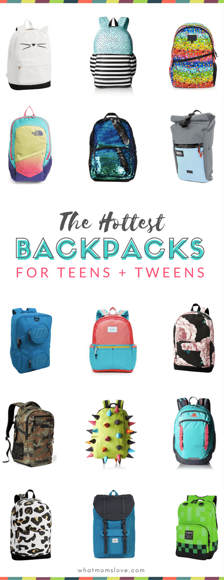 Cool Backpacks for Teens and Tweens for school | Whether you're looking for something hipster, cute or sporty these best picks for girls and boys have something for everyone! Part of the Back to School shopping guide