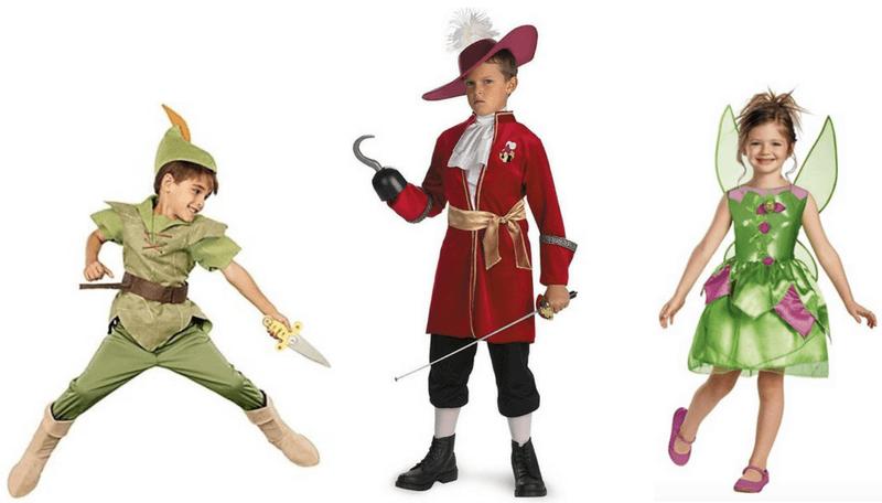 Creative Halloween Costumes for Siblings - Peter Pan, Hook, Tinkerbell