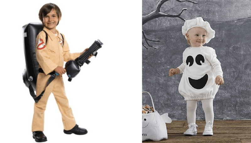 Creative Halloween Costumes for Siblings - Ghostbuster and Ghost