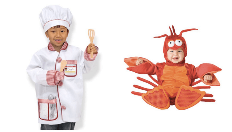 Creative Halloween Costumes for Siblings - Chef and Lobster