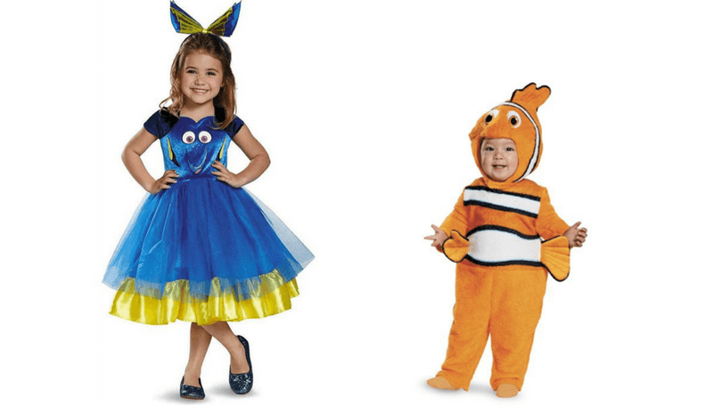 Creative Halloween Costumes for Siblings - Nemo and Dory