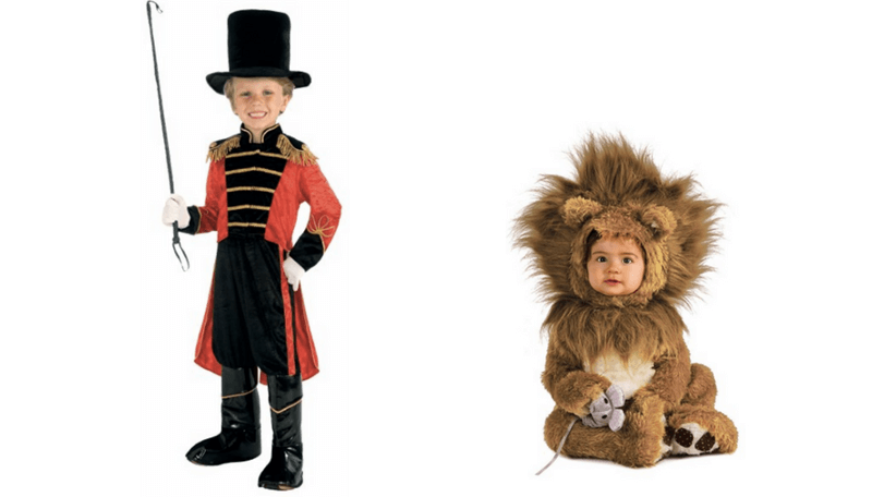 Creative Halloween Costumes for Siblings - Ringmaster and Lion