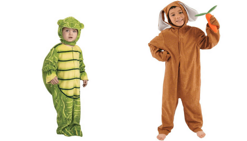 Creative Halloween Costumes for Siblings - Tortoise and Hare
