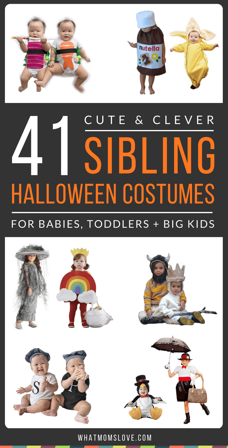 21 Cute & Clever Halloween Costume Ideas For Siblings (No DIY