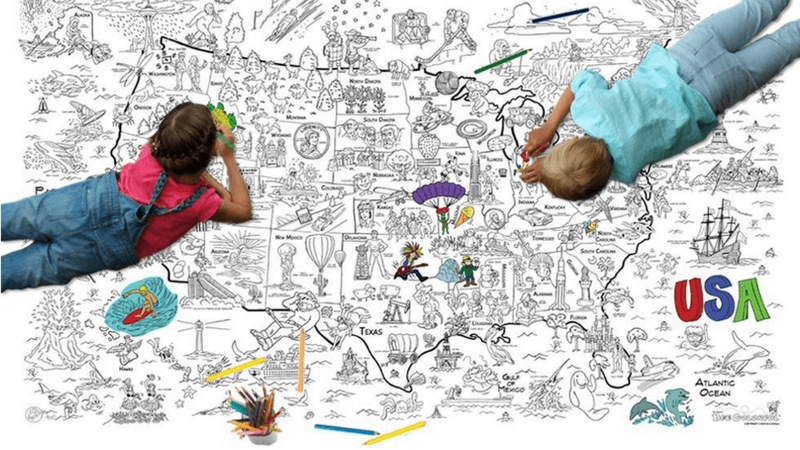 Best Non-Toy Gifts for Kids - Hobbies & Interests - Giant Coloring Poster