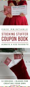 Printable Stocking Stuffer Coupon Book for Kids