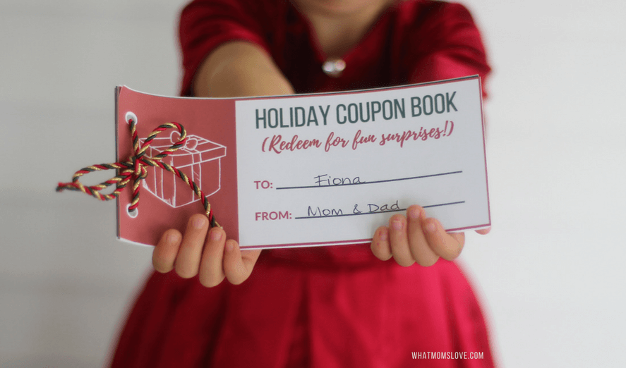 Stocking Stuffer Printable Coupon Book for Kids