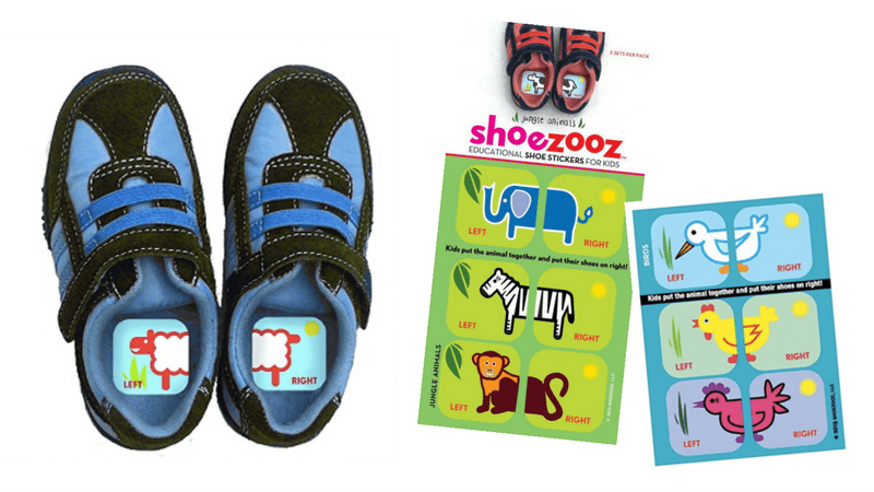 Shoe Stickers - have kids learn left from right | Hacks, Tips and Tricks for Organized, Stress-Free Mornings with kids