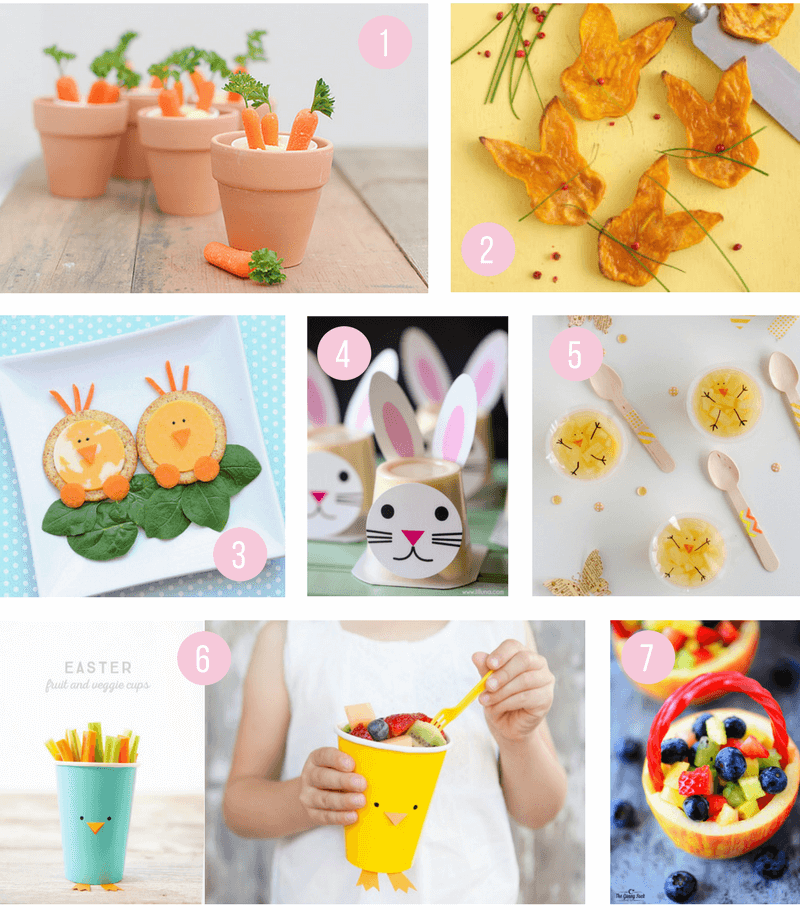 Healthy Easter Snack Ideas for Kids | Fun snacks that are great for school or for your party, perfect for toddlers, preschoolers and big kids too! Super cute and creative ideas that are easy to make!