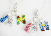 Shrink Film Keepsake Keychain. AUnique DIY Gift For Mom &Grandma To Gush Over This Mother's Day.