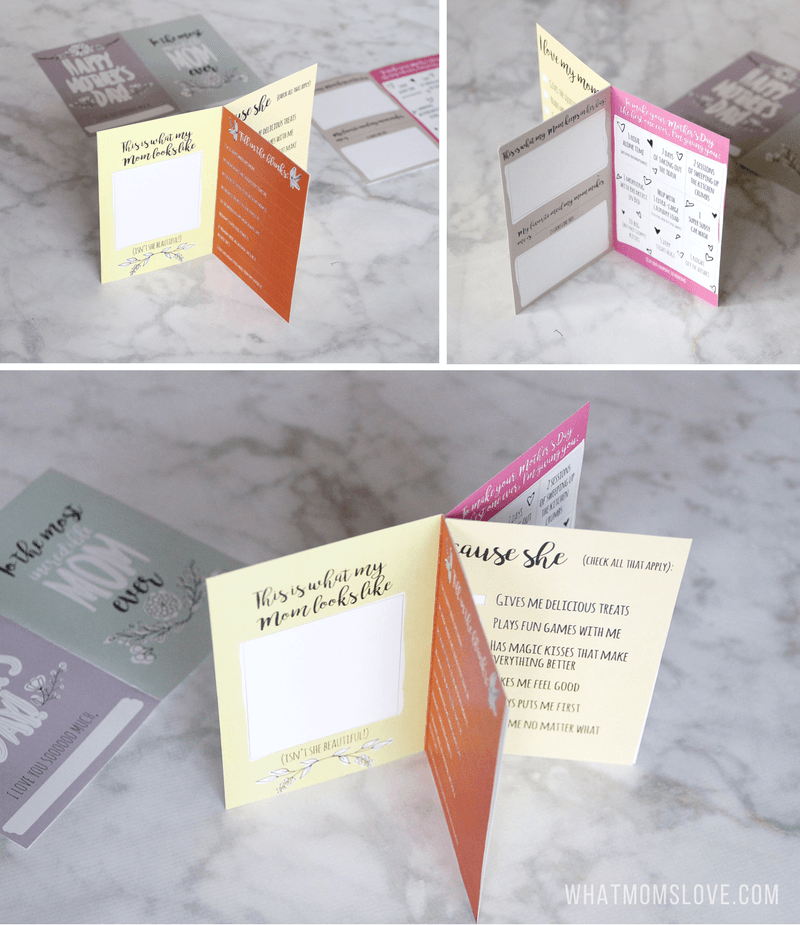 Free Printable Mothers Day Card   All About Mom or Grandma Book for kids to make - a unique personalized gift idea. Includes a fun questionnaire, coupons for mom, and space to draw and color. The perfect DIY homemade card for Mothers Day.