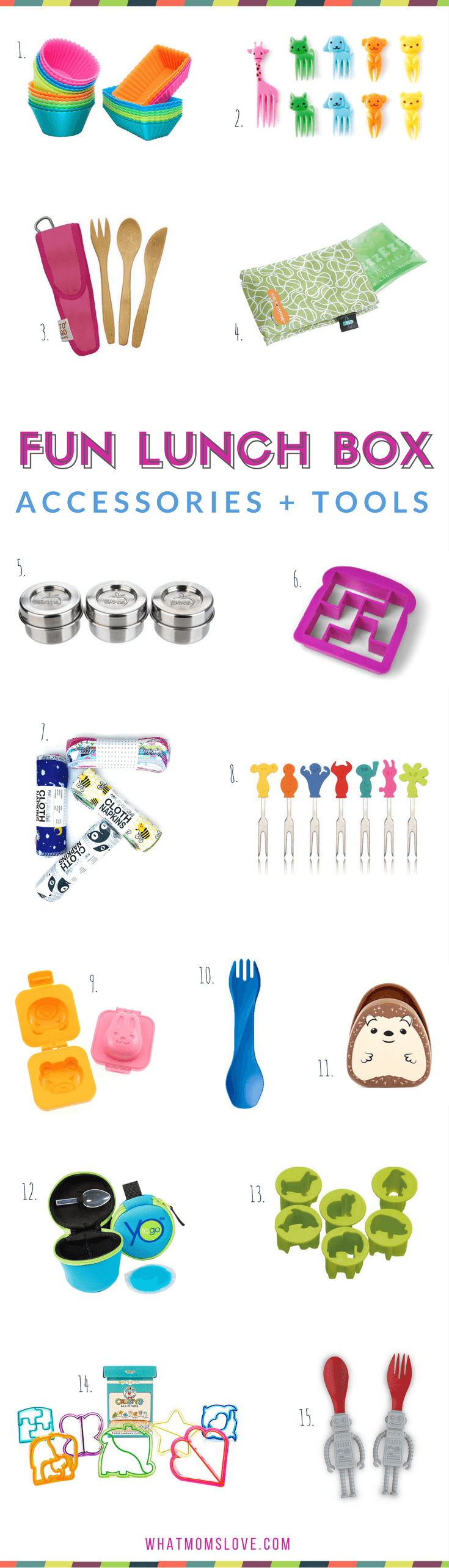Back to School - Fun Lunch Accessories and Tools
