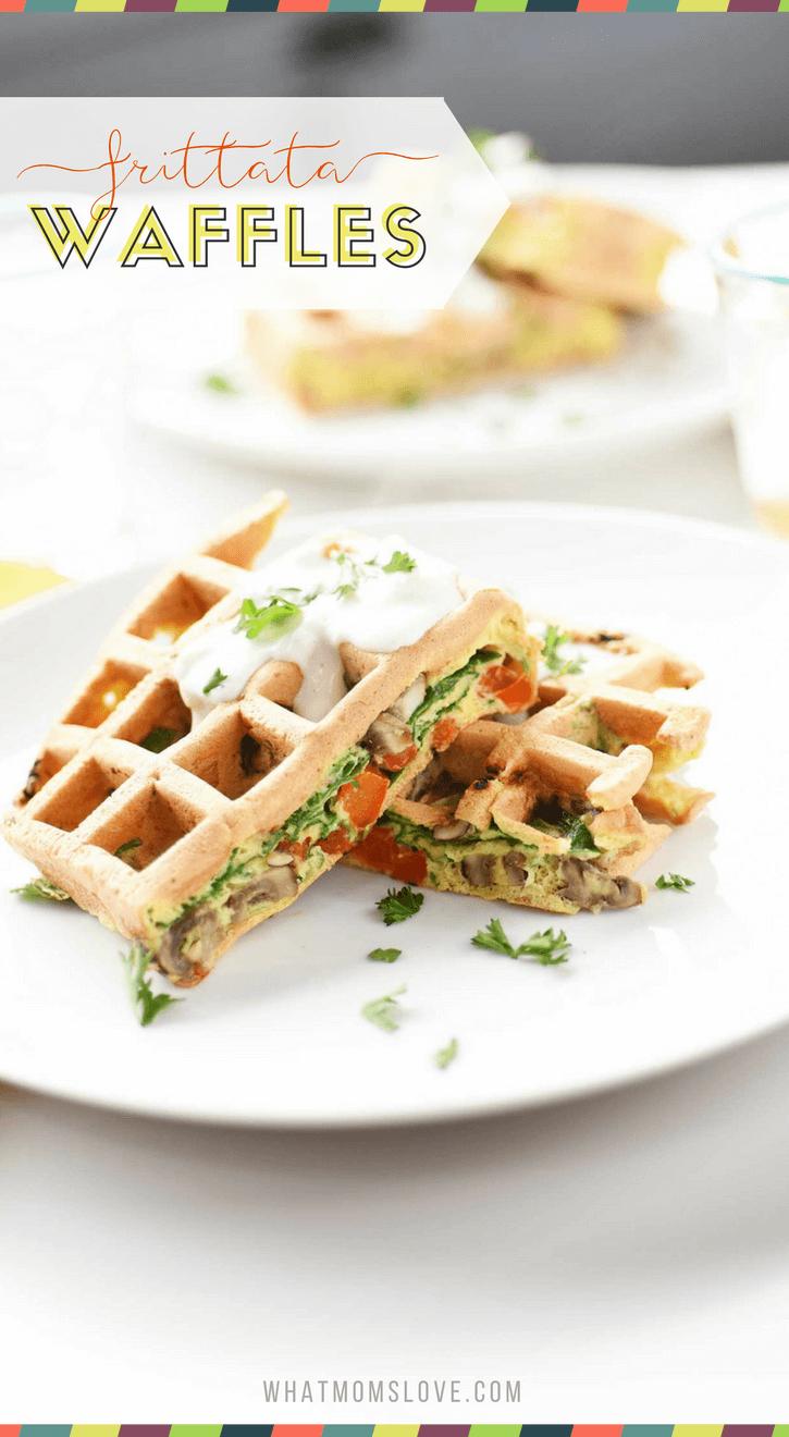 Veggie Frittata Waffle Recipe | Savory Waffles For Dinner