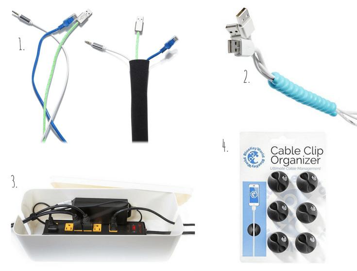 Cord cable organization