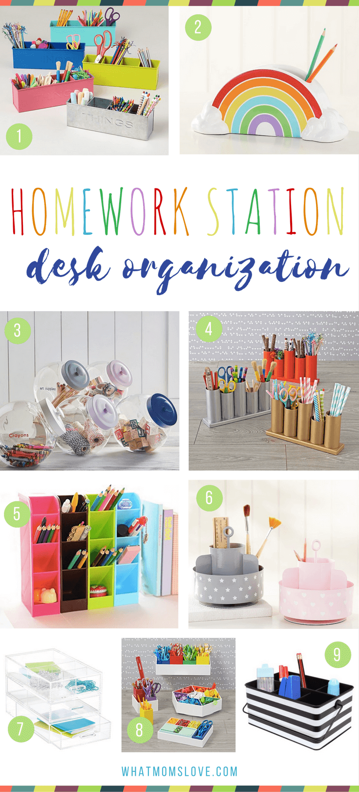 How to make a homework station for kids - desk organization for a study space