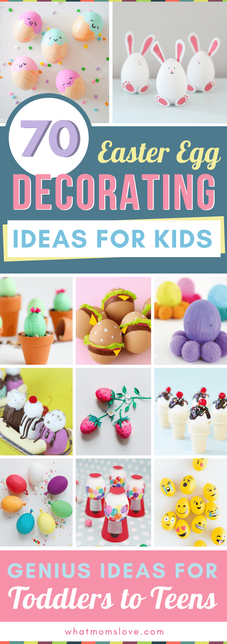 Easter Egg Decorating Ideas For Kids 70 Creative Ways To Decorate Your Eggs What Moms Love