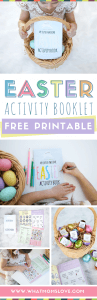 Free Easter Printable Activity Book | Fun activities including coloring pages, indoor/outdoor scavenger hunt, iSpy and active movement games. Perfect for children of all ages - toddler, preschool and beyond | Great to use in the classroom too! Super easy DIY, simply print on 8x10 paper.