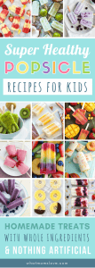 Best Healthy Popsicle Recipes for Kids | These fun homemade ice pops are easy to make and are perfect for clean eating. They're filled with fresh fruit, veggies and contain no added sugar - a refreshing, healthy summer DIY treat. Eat them for breakfast, snack or dessert!