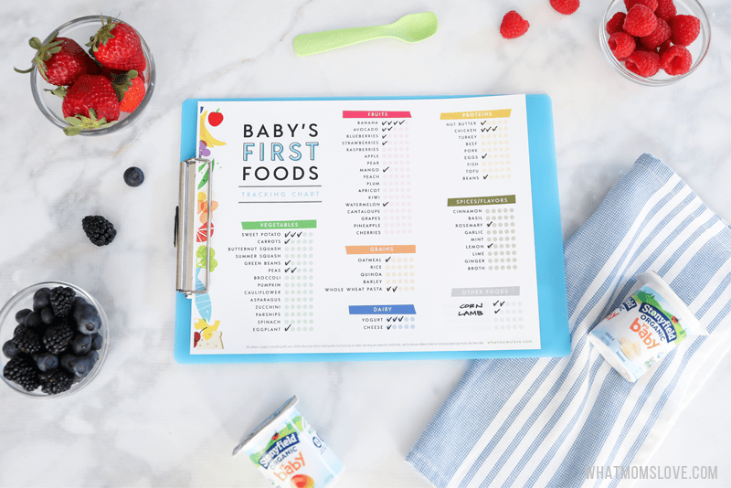 Printable Checklist For Baby's First Foods + Tips For Introducing Solids -  what moms love