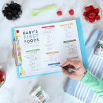 Printable Checklist For Baby's First Foods + Tips For Introducing Solids