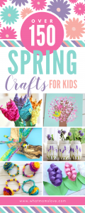 The Best Spring Crafts for Kids | Easy DIY art projects for children of all ages - from toddlers and preschoolers to kindergarten, elementary and beyond. Celebrate the first day of spring or Easter with simple crafts to make including flowers, trees, bird feeders, outdoor garden, butterflies, bugs and more! Great for home decorations, keepsakes or school activity.