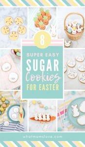 Easy Easter Cookie Ideas for Kids | Fun and simple sugar cookie designs with lots of bunnies, chicks, lambs and carrots! Tips and techniques for how to decorate cookies with royal icing. These make a cute Easter treat or dessert.