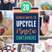 Creative upcycle crafts for kids | Easy DIY ideas for reusing plastic containers like k-cups, yogurt and baby food containers. Fun projects for Earth Day and beyond!