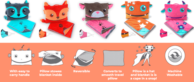pillowie - blanket and pillow for kids