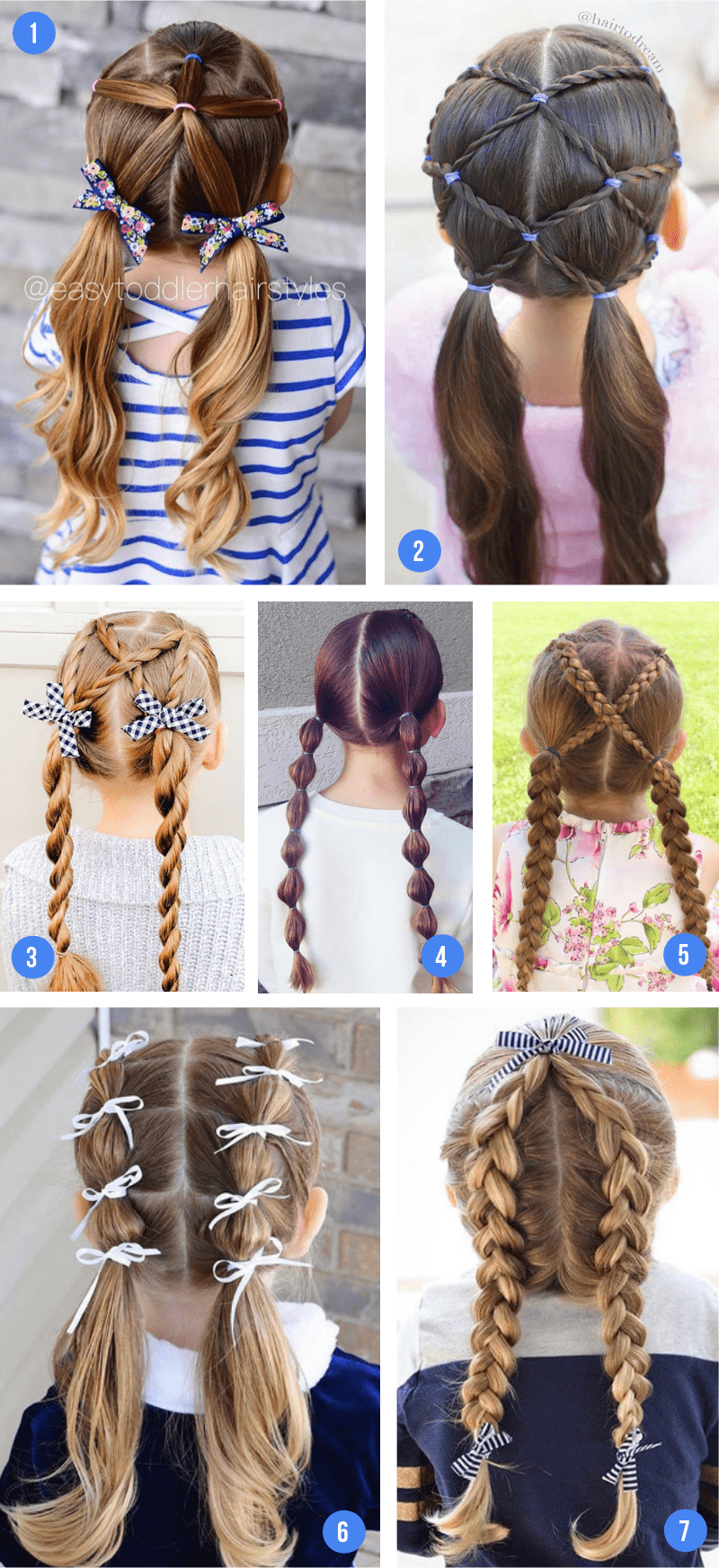 Easy Girls Hairstyles For Toddlers, Tweens & Teens - what moms love
