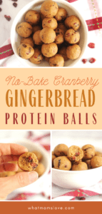 The best healthy, no bake Gingerbread Cranberry Protein Balls Recipe