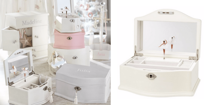 Best Non-Toy Gifts for Kids - Pottery Barn Kids Abigail Jewelry Box