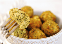 Healthy Air Fryer Spanakopita Chicken Meatballs
