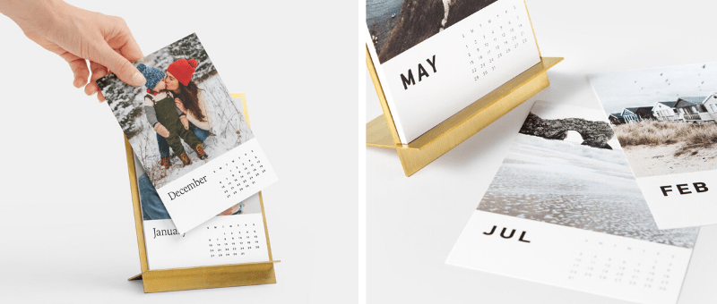 brass easel desk calendar