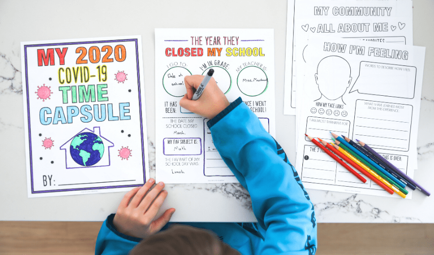 It is an image of Time Capsule Printable Worksheets intended for teacher