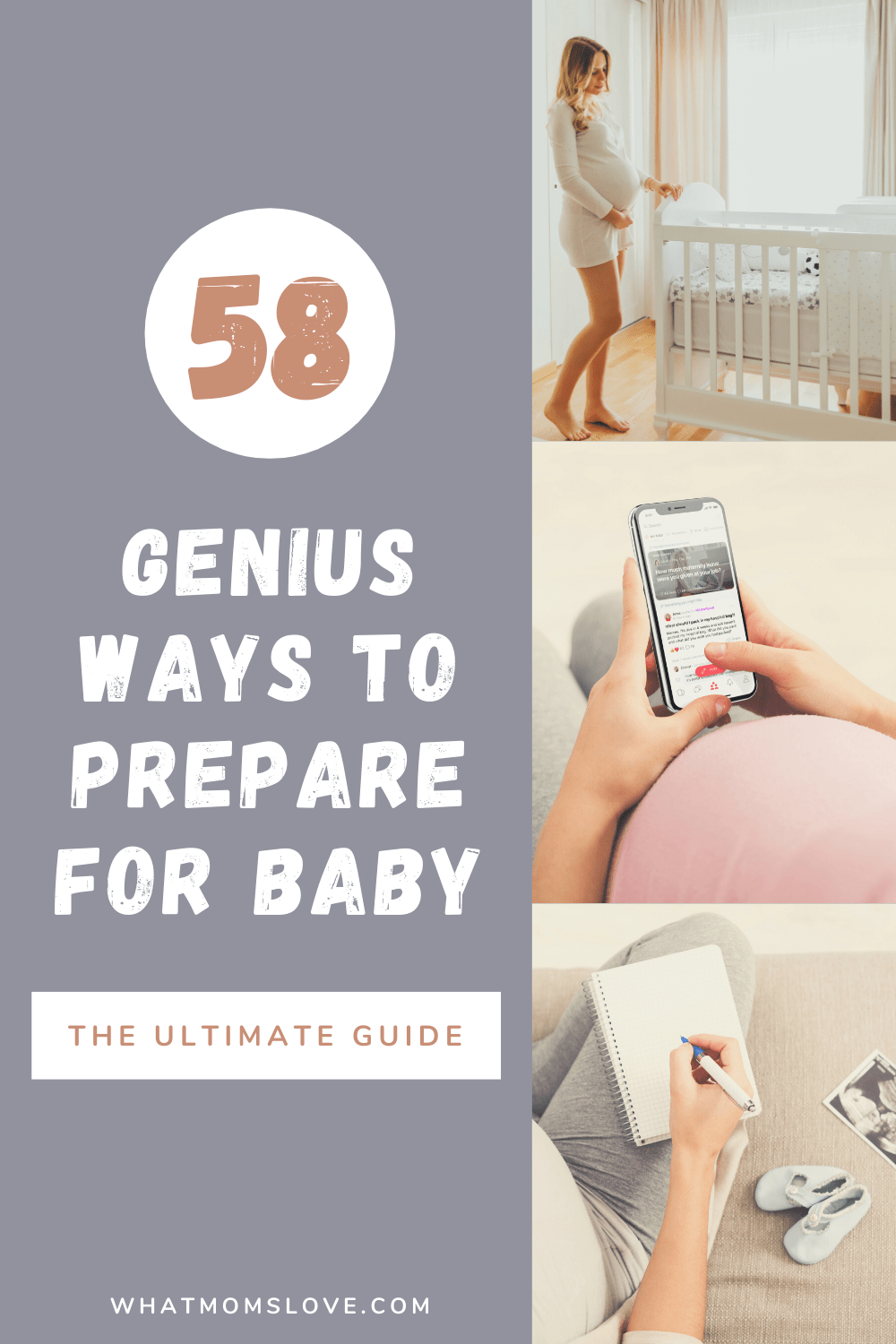 58 genius ways to prepare for baby graphic